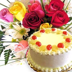 send roses and pineapple cake to mysore