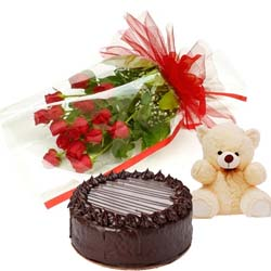 cake, flower and teddy to mysore