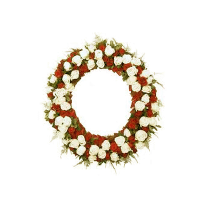 send Red & Yellow Wreath to mysore