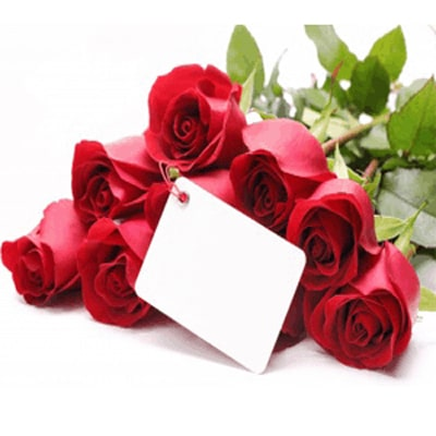 bunch of 60 red roses & valentine card.
