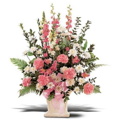 Exotic Pink Carnations & Orchids arrangement to Mysore
