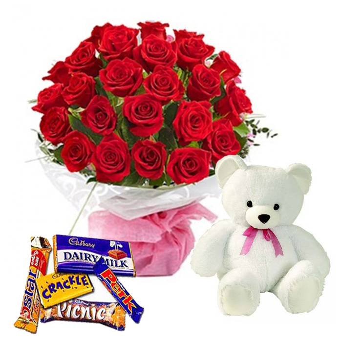 send valentine's day gifts to mysore | bunch of red roses for him, Ideas